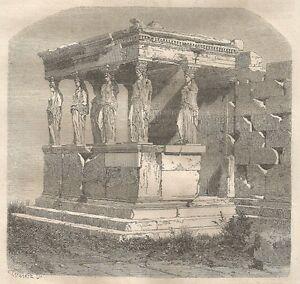 A4757 Tribune Du Temple De Pandrose - Xilografia Antica Del 1864 - Engraving La RéPutation D'Abord