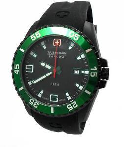 Swiss-Military-Hanowa-Ranger-Datum-Uhr-schwarz-gruen-06-4200-27-007-06-gt-gt-NEU