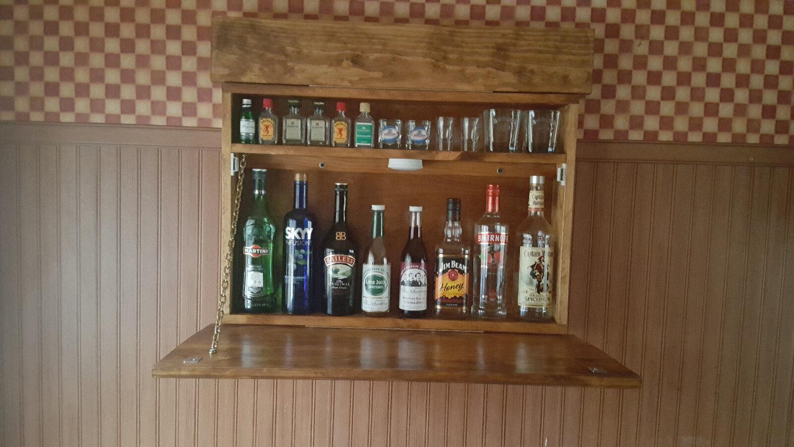 Murphy bar MAN CAVE liquor cabinet salle de jeux Replier Bar Mural