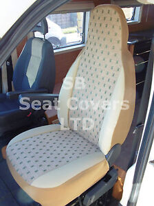 TO-FIT-A-PEUGEOT-BOXER-MOTORHOME-SEAT-COVERS-ELLIE-BEIGE-MH015-2-FRONTS