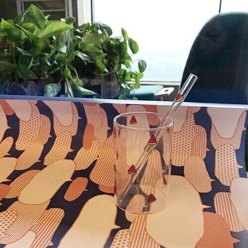 Strawberry Cute Nordic Glass Cup Creative Transparent Water Cup Elefantes De