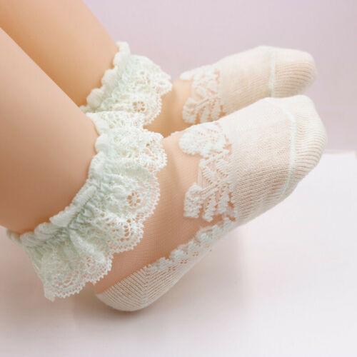 Baby Girls Kids Socks Cotton Lace Mesh Breathable Socks Frilly Ankle Socks Kids