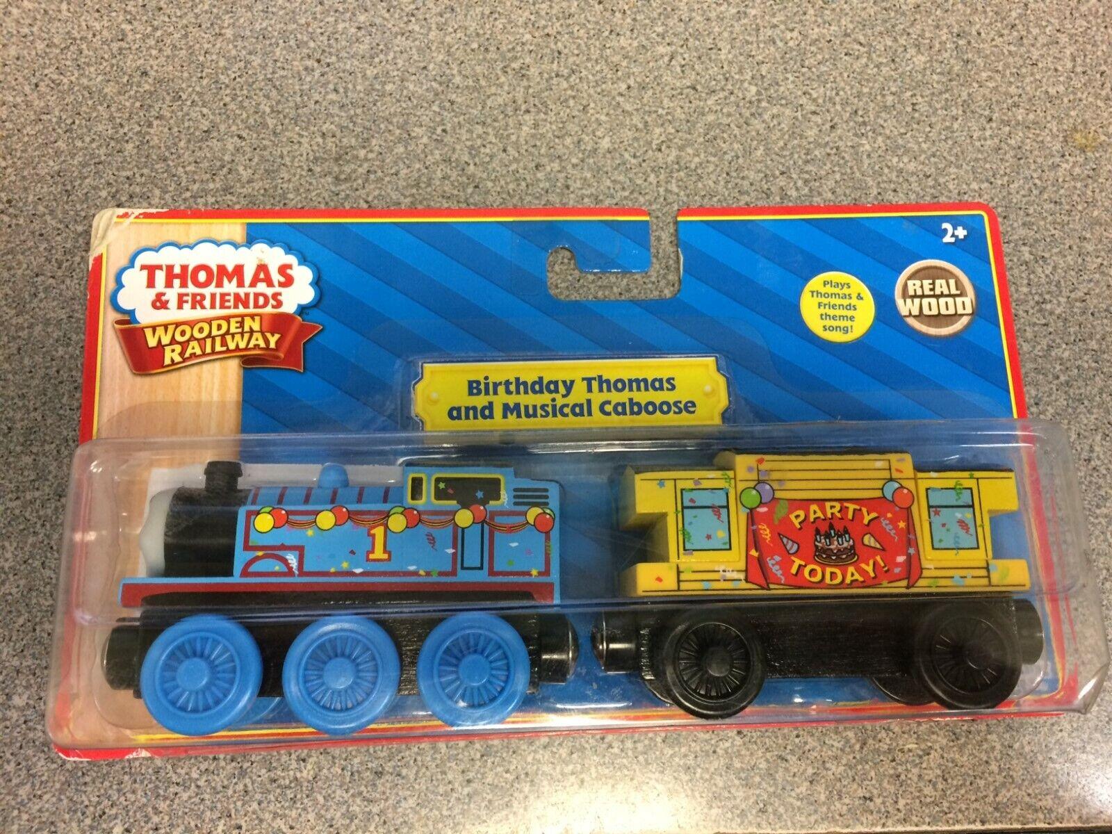 Födelsedag Thomas och musikal Caboose träen järnvägway New i öppen stil.Läs ner.