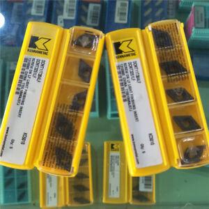 Kennametal DCMT3251LF DCMT11T304LF KC5010 Carbide Inserts Turning Tips 5Pcs