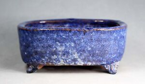 Tokoname Soft Rect. Bonsai Pot by Shuhou (Yoshimura kiln), #A5560, 147*123*H60mm