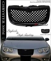 For 1999-2004 Chrysler 300m Black Luxury Mesh Front Hood Bumper Grill Grille Abs on sale