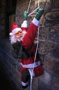 Arrampicata-Babbo-Natale-con-scala-di-corda-Indoor-Outdoor-Decorazione-Di-Natale-55cm