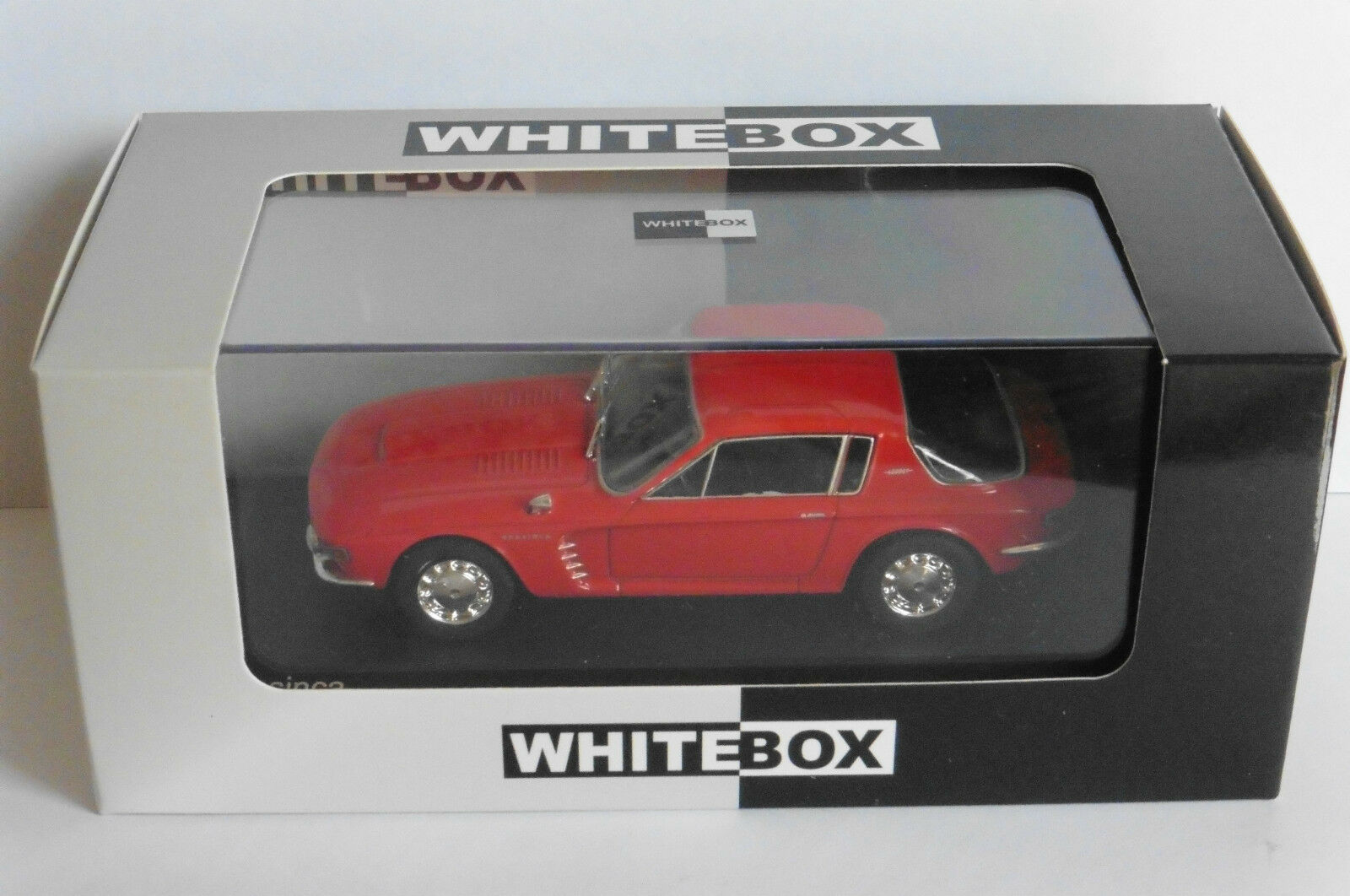 BRASINCA 4200 GT RED 1965 WHITEBOX WB102 1 43 red red red LHD LEFT HAND DRIV