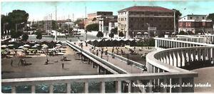 CARTOLINA-PANORAMICA-SENIGALLIA-SPIAGGIA-1956-MARCHE-ANCONA