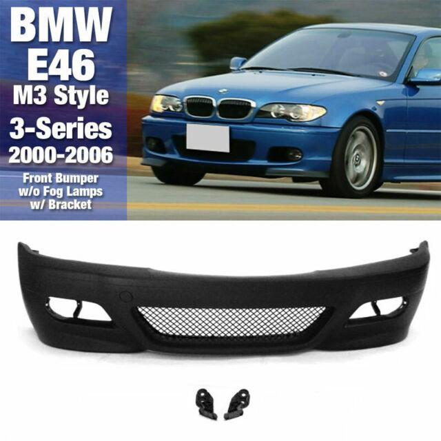 BMW E46 M3 Style Front Bumper Coupe Convert w// Bracket w//o Fog Lamp 00-06