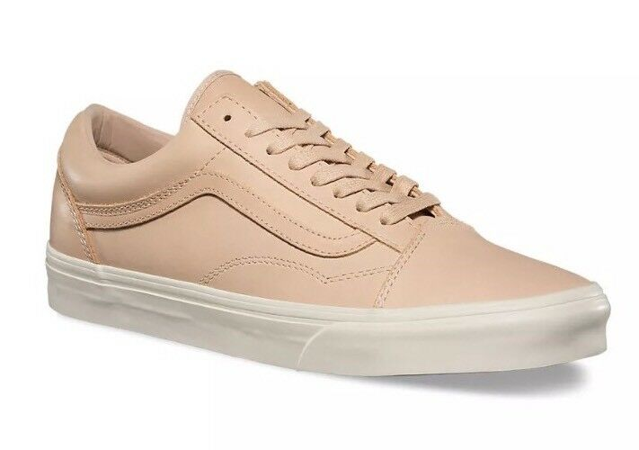 * Vans Mens 9 Womens 10.5 Old DX DX Old Skool Veggie Tan Leather Shoes Skate Sneakers 4d54cb
