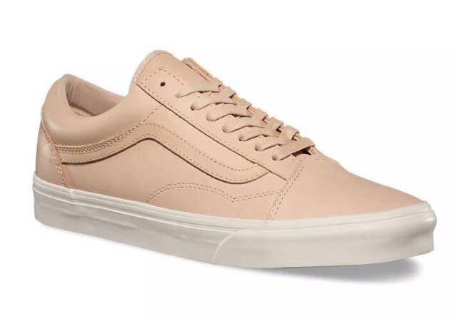 Vans Mens 13 Womens 14.5 Old DX Skool Veggie Tan Leather Shoes Skate  Sneakers c405a73d2