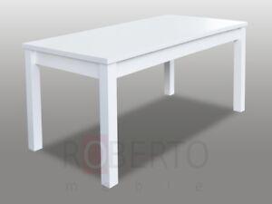 Esstisch Tisch Esszimmer Wohnzimmer Tische Holz Design Weiss
