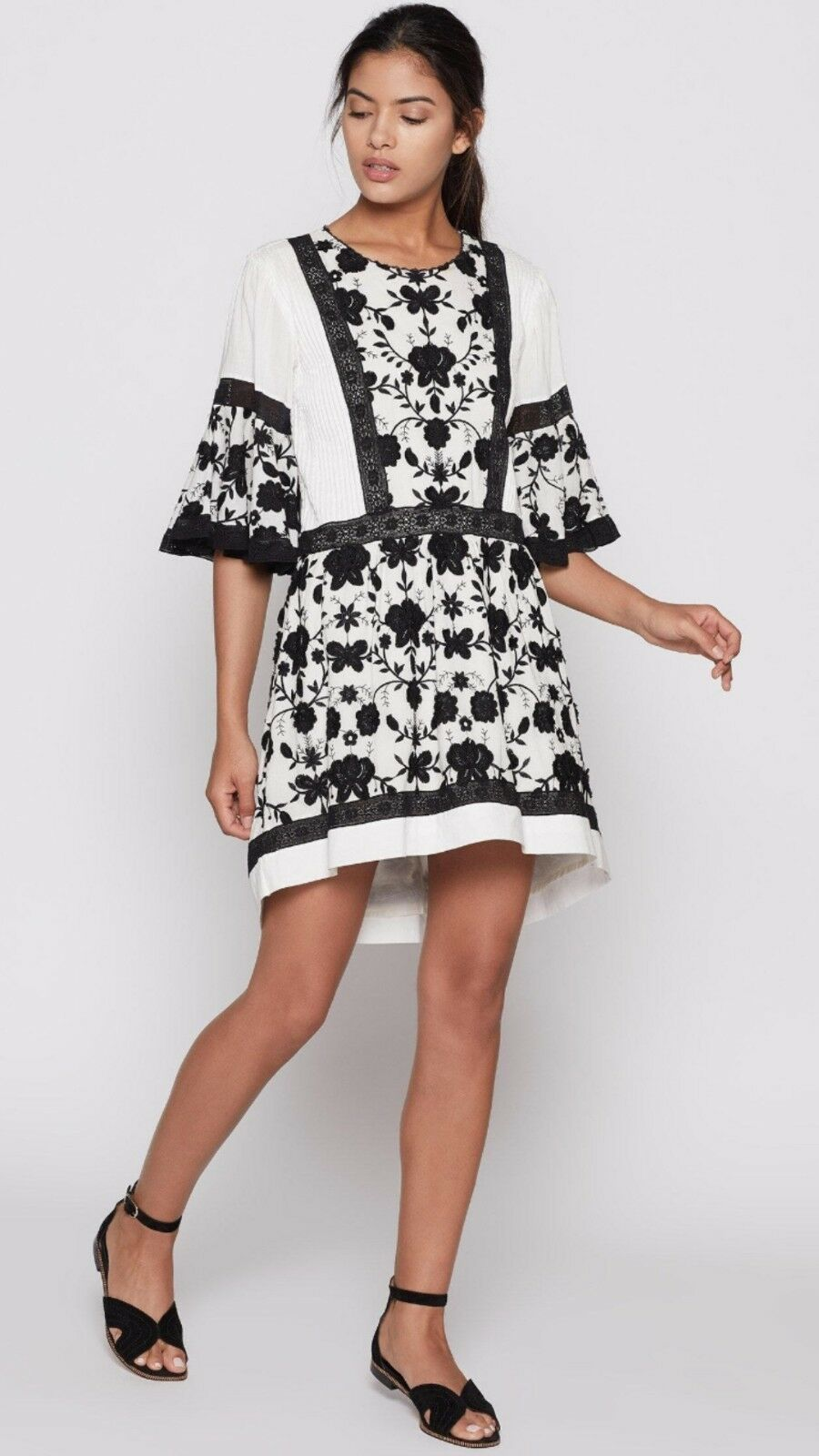 NWT Joie Gaetena Embroidered Dress Sz 6 Retail