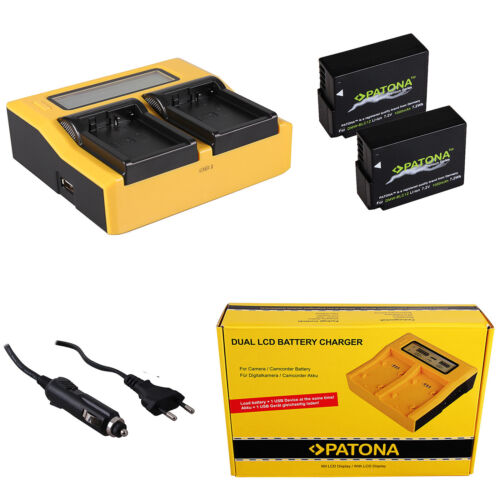 2x Batteria Patona caricabatteria rapido DUAL LCD per Sigma BP-51