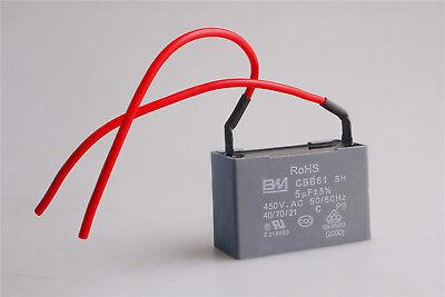 Capacitor 0.6UF 0.6MFD 450V AC CBB61 Fits 400//350//300//250VAC