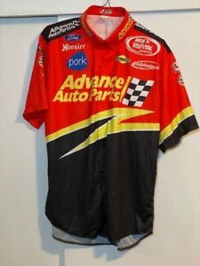 10x-Champ-Frank-Kimmel-Advance-Auto-Parts-2005-Race-Used-Pit-Crew-Shirt-Large
