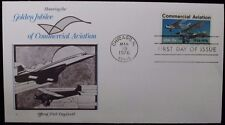 1976 FDC Honoring Golden Jubilee of Commercial Aviation 13c Cachet Scott 1684