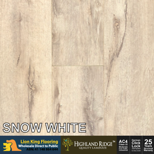 12mm Laminate Flooring Laminate Timber Floorboard Floor Colour Snow White Ebay