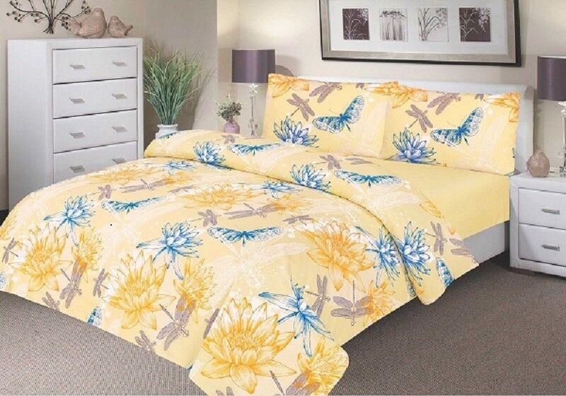 Comfortnights Waterproof Printed Printed Printed Duvet Cover Set - Gelb Waterlilly 27fd4b