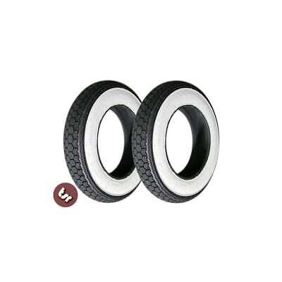 "VESPA//LAMBRETTA Whitewall Continental 10/"" Tyre X2 PAIR"