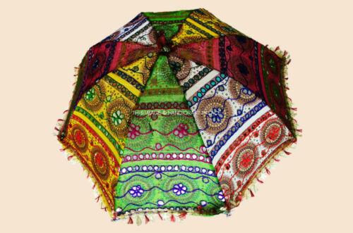 Indian Designer Umbrella Hand Embroidered Vintage Lot Of 30 Pc Cotton Parasols