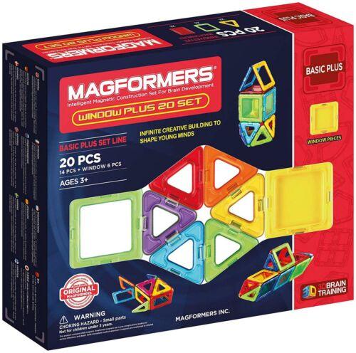 Magformers WINDOW PLUS 20 Educational Construction Building Stem Toy BNIP