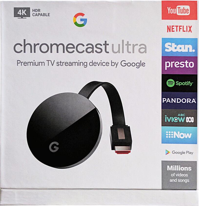 s-l1600 Google Chromecast Ultra 4K HD HDR Video Media Streamer Player