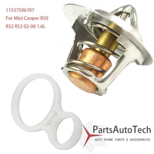 Engine Thermostat w// Gasket Seal fits Mini Cooper /& S R50 R52 R53 2002-2008 1.6L