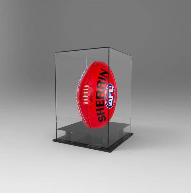 d36dfa2c Football AFL Ball Acrylic Perspex Display Case Vertical Upright Signed  Autograph