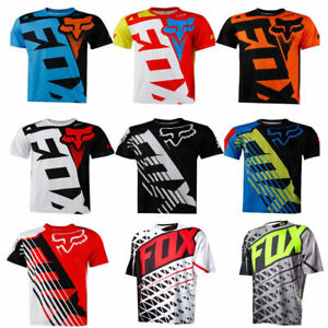 FOX Herren Radfahren Jersey Mountainbike T-Shirt MTB Racing Motocross Kurzarm