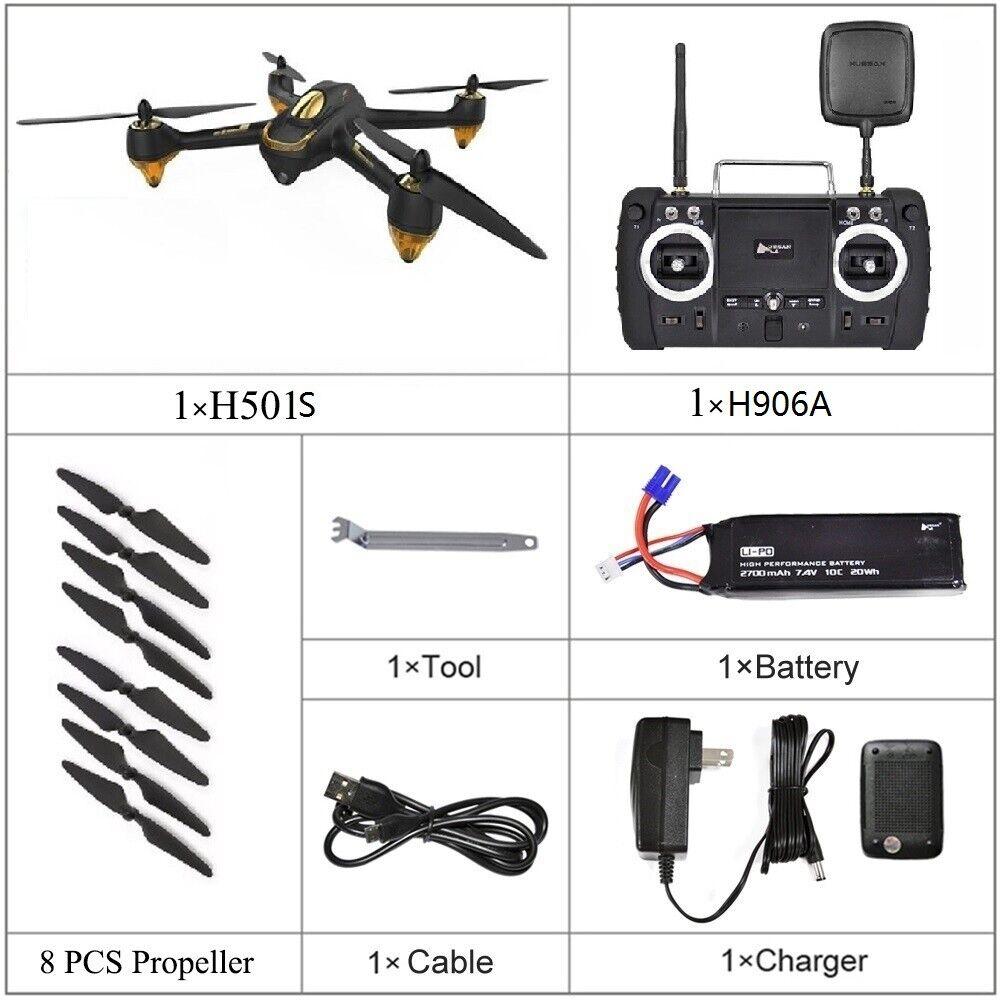 2019Hubsan H501S X4 FPV Brushless 1080P HD Camera GPS RC Quadcopter High Version
