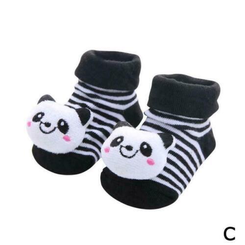 Baby Girl Boy Anti-slip Socks Cartoon Newborn Slipper Shoes Boots 0-18 Mont P0N7