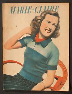 039-MARIE-CLAIRE-039-FRENCH-VINTAGE-MAGAZINE-28-APRIL-1941