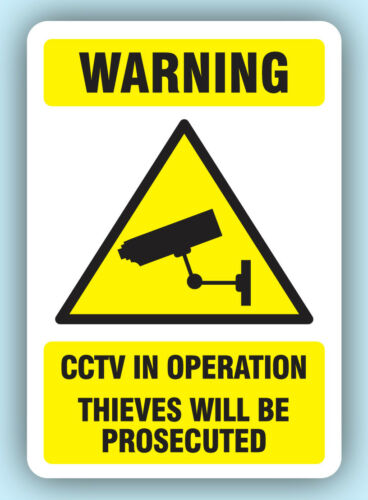 Shop Security CCTV Thieves Will Be Prosecuted Stickers Sticky Swing Tag Labels