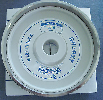 "rle 8"" GALAXY DIAMOND PACIFIC GRINDING WHEEL 220 GRIT FOR TITAN OTHER 8"" GRINDER"
