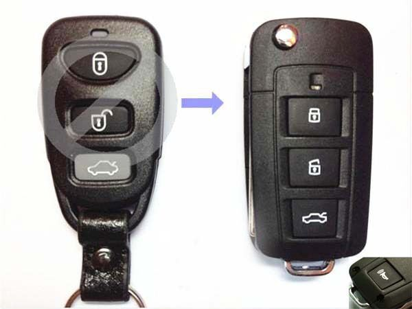 Remote Folding Key Flip Shell Case Uncut Blank For Kia Rio Optima 3+1 Buttons