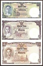 THAILAND 2007 P-117 BANKNOTE KING 80 BIRTHDAY 1,5,10 BAHT UNCUT SHEET W/ FOLDER