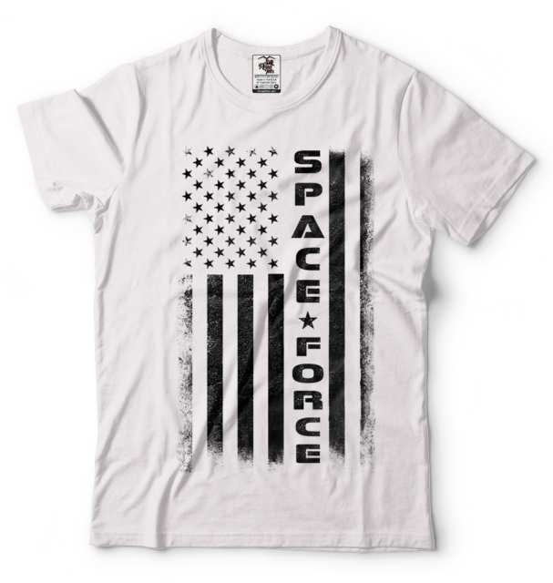 Trump Space Force T-Shirt American Flag Space Force Cool Political T shirt USA