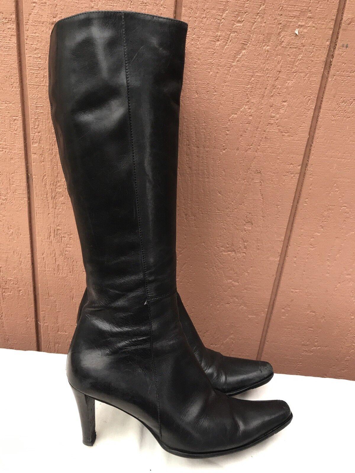 Wouomo L K Bennett Knee High nero Soft Leather stivali Dimensione 39.5 US 8.5