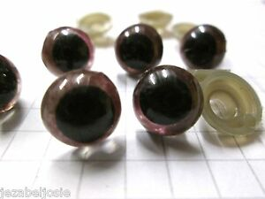 Brown Plastic Safety Craft  Eyes  x 20 Choice of size 10mm or 16mm  Toys Bears