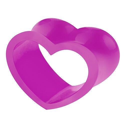 Corazón de silicona túnel-Lila