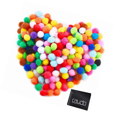 Caydo 2400 Pieces Craft Pompoms Assorted Colors 6 mm for Hobby Supplies