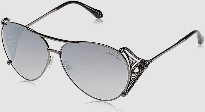Authentic Roberto Cavilli 1057 08C Women Black Pilot Sunglasses 61-12-125