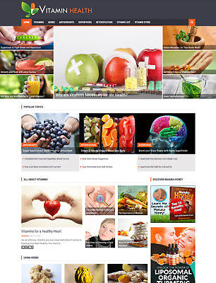 VITAMIN HEALTH MINERALS website for sale Affiliate Mobile Responsive