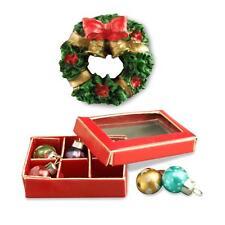 dollhouse christmas decorations 18968 reutter balls wreath miniature new 2015