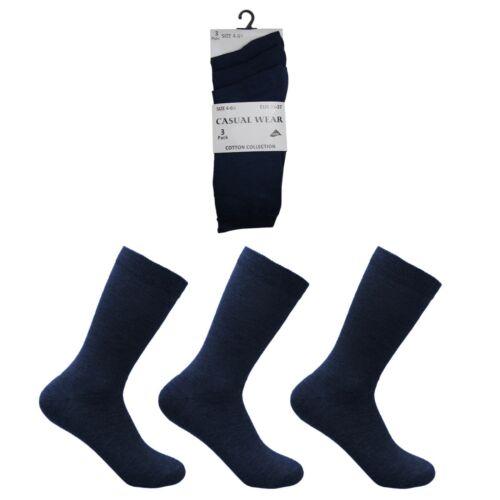 Mens Womens Ladies Boys Girls Cotton Rich Plain Socks Uniform Pack 3x 6x 12
