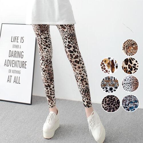 Womens Animal Leopard Print High Waist Soft Stretch Skinny Leggings Fashion Slim