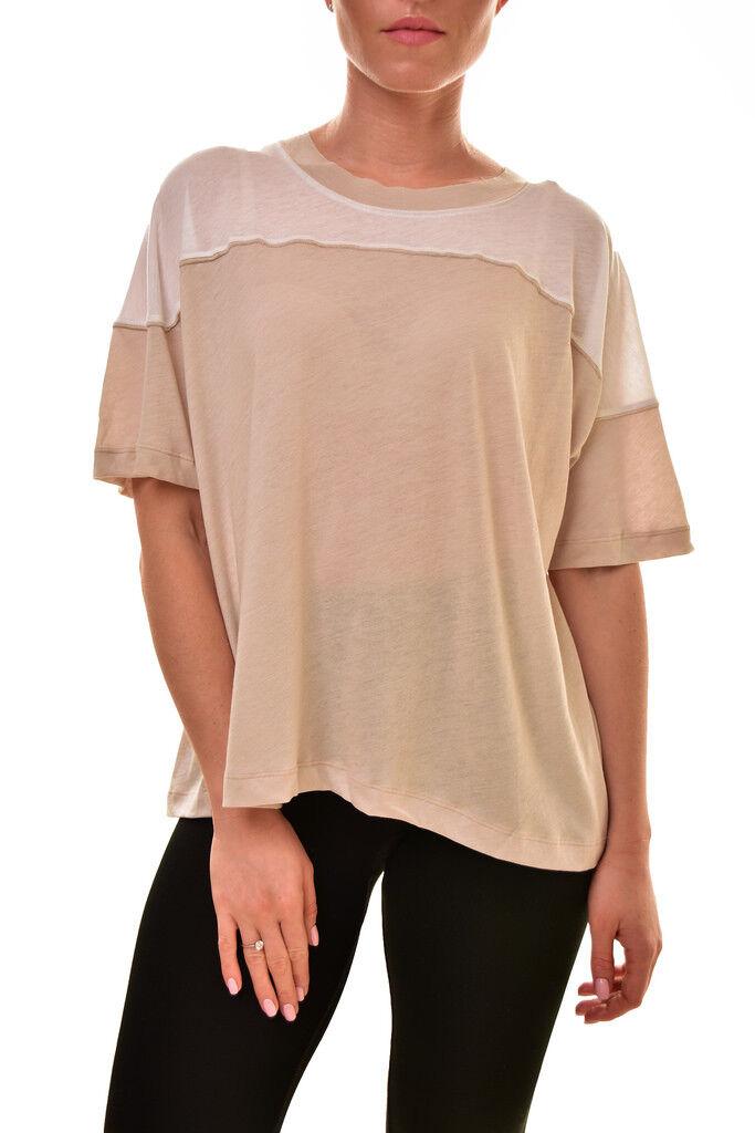 Wildfox Women's Soft Samuel WTJ115 0 T-Shirt Maderas Tan White S