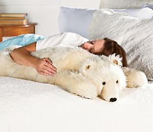 Large Plush Polar Bear White Body Pillow Giant Soft Stuffed Animal 48